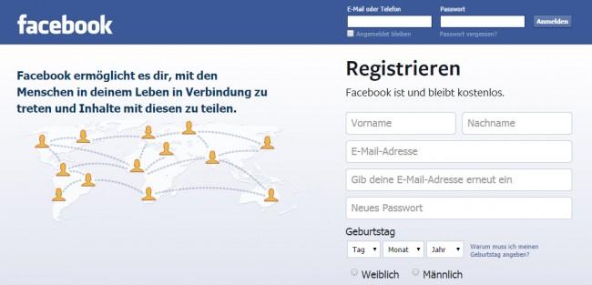 Anmelden oder nicht? - Facebook kämpft mit einer neuen Klage wegen Eingriffe in die Privatsphäre.