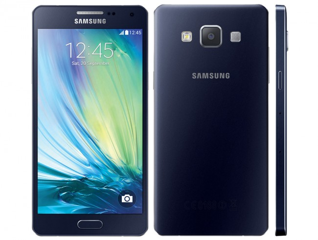 Das neue Galaxy A5 steckt in einem Alu-Gehäuse und siedelt sich in der Mittelklasse an. (Foto: Samsung)