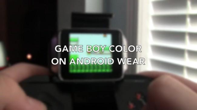 Nicht nur Android Wear-Apps laufen auf den Smartwatches sondern auch der Gameboy Color-Emulator.