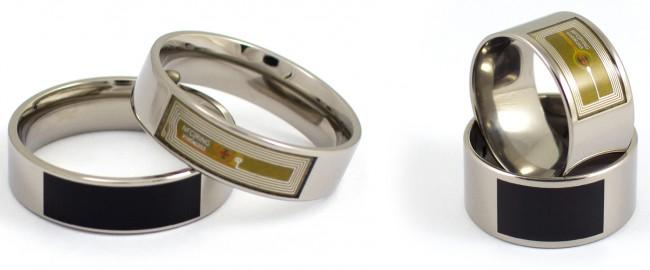 """Der """"NFC Ring"""" ist in drei Ausführungen erhältlich. Mit diesen Ringen kannst du beispielsweise dein Smartphone entsperren, Türen aufschließen und Informationen übermitteln. (Foto: McLear Ltd.)"""