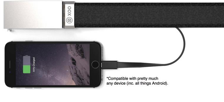 Geniale Idee: Mit dem Xoo Belt kannst du dein Smartphone an deinem Gürtel aufladen