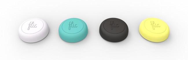 Der Tastenknopf Flic erlaubt es dir, beinahe beliebige Funktionen deines Smartphones aus der Entfernung aufzurufen. (Foto: Indiegogo – Flic)