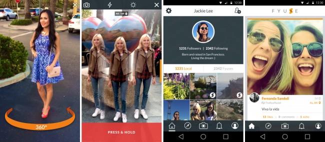 Mit der App Fyuse ist es möglich, Panoramavideos aufzunehmen, die du dann später in Form von interaktiven Fotos betrachten kannst. (Bildschirmfotos: Fyusion)