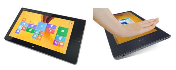 Fujitsu hat bereits ein Tablet mit einem eingebauten Sensor zur Erkennung der Blutgefäße in der Handfläche entwickelt. (Foto: Fujitsu Limited.)