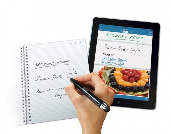 Von handschriftlichen Notizen erstellt der Livescribe 3 Smartpen digitale Abbilder. (Bild: Livescribe)