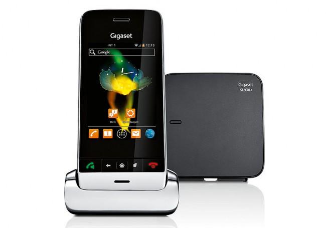 Schon im Jahr 2013 hat Gigaset mit dem SL930A ein schnurloses Android-Festnetztelefon auf den Markt gebracht. (Foto: Gigaset AG)