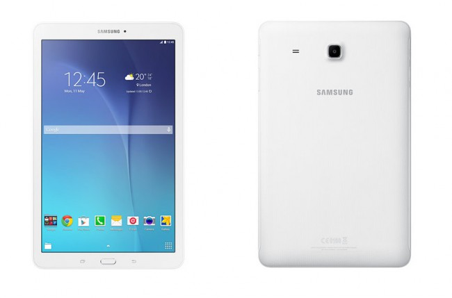 """Das Samsung-Tablet """"Galaxy Tab E"""" kostet lediglich 200 Euro – und bietet eine Bildschirmdiagonale von 9,6 Zoll. (Foto: Samsung)"""