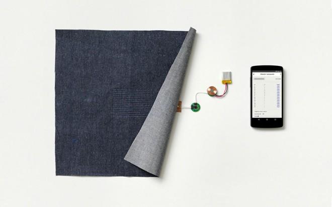 Google ATAP: Project Jacquard Smart Clothing, also Kleidung die mit Geräten interagieren kann, wird durch Googles Project Jacquard auf ein neues Level befördert. Leitfähige Fasern werden direkt in Stoffe eingewoben und können dadurch wie jeder normale Stoff weiterverarbeitet werden.
