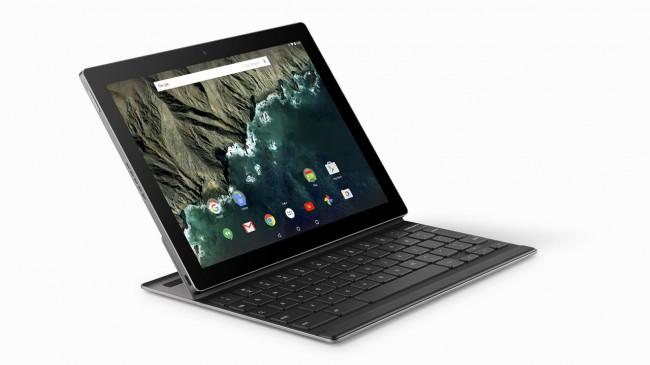 Als Zubehör für das neue Google-Tablet Pixel C ist eine Tastatur erhältlich, die sich magnetisch an dem Tablet befestigen lässt. (Foto: Google)