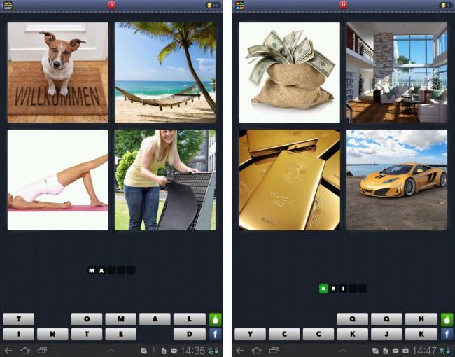 """Das Spielprinzip von """"4 Bilder 1 Wort"""" ist denkbar einfach. Du siehst vier Bilder, die eine – meist nicht sofort ersichtliche - Gemeinsamkeit aufweisen."""