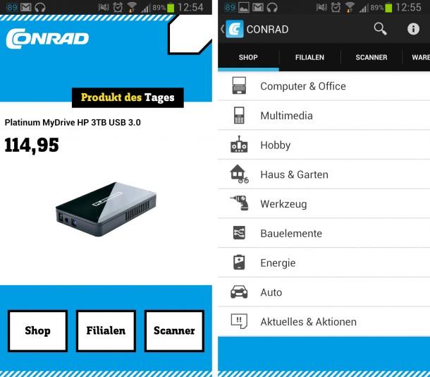 Alle Technik- und Elektronikbegeisterten sowie Heimwerker finden mit der Conrad App schnell günstige Angebote und können aus einem riesigen Sortiment wählen.