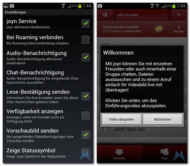Joyn für Android kann bereits jetzt getestet werden. Foto: mobiflip.de.