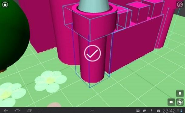 3D Objekte werden in  einem Raster positioniert.