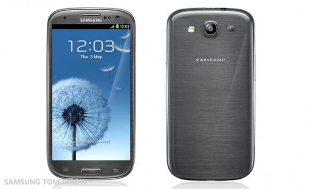 Das Samsung Galaxy S3 in der grauen Farbversion. Foto: Samsung Tomorrow.