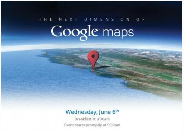 Die Einladung zum Google Maps Event am 6. Juni. Foto: techcrunch.
