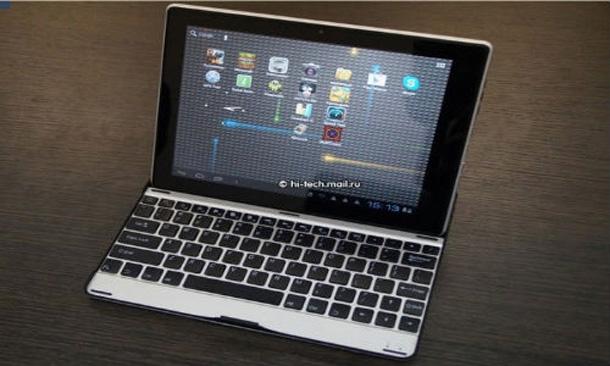 Das Hyunday HT 9b kann mittels Tastaturdock zum Netbook umgewandelt werden. Foto: gizbo.com.