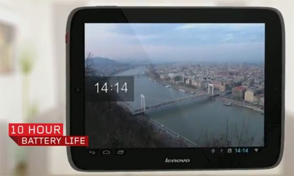 Das Lenovo IdeaTab S2109 bietet eine Akkulaufzeit von bis zu 10 Stunden. Mit dieser Leistung kommt man leicht über den Tag. Foto: Lenovo.