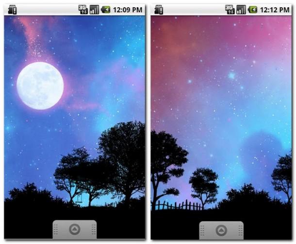 Mit der App Nightfall Live Wallpaper Free bekommst du einen stimmungsvollen Wallpaper auf dein Smartphone.