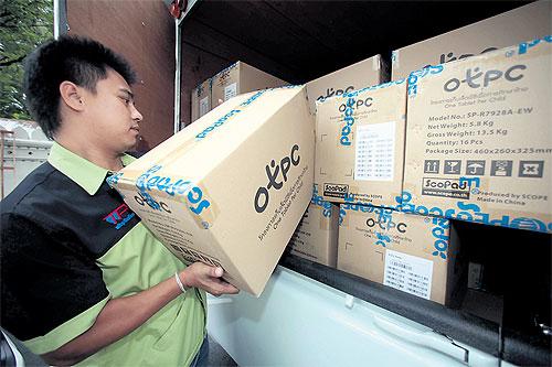 "Mit dem Projekt ""One Tablet per Child"" versorgt der Staat Thailand die Schüler mit mobilen Tablet-PCs. (Foto: Bangkok Post)"