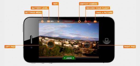 Mit der App lässt sich die Drohne recht präzise steuern (Foto: Parrot)