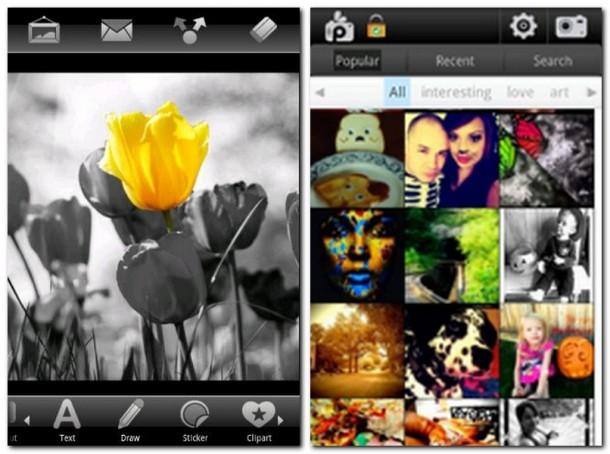 Die App überzeugt durch die Vielzahl an Features, hier zum Beispiel die Fotobearbeitung. In der Gallerie können Fotos geteilt, kommentiert und bewertet werden.