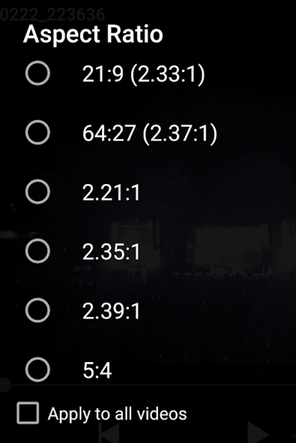 Aspect Ratio in MX Player