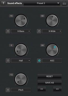 Advanced Sound Effects in jetAudio