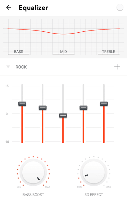Graphic Equalizer in Musixmatch