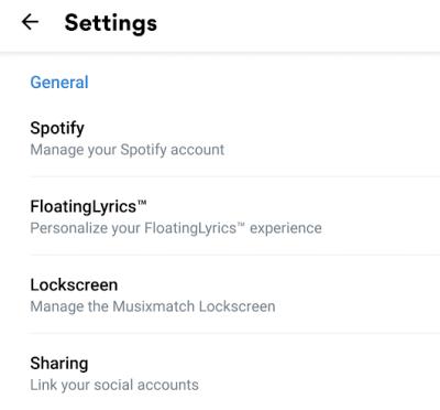 Sharing Spotify Musixmatach