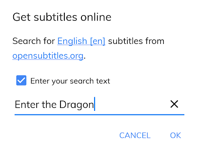 Get Subtitles Online in MX Player