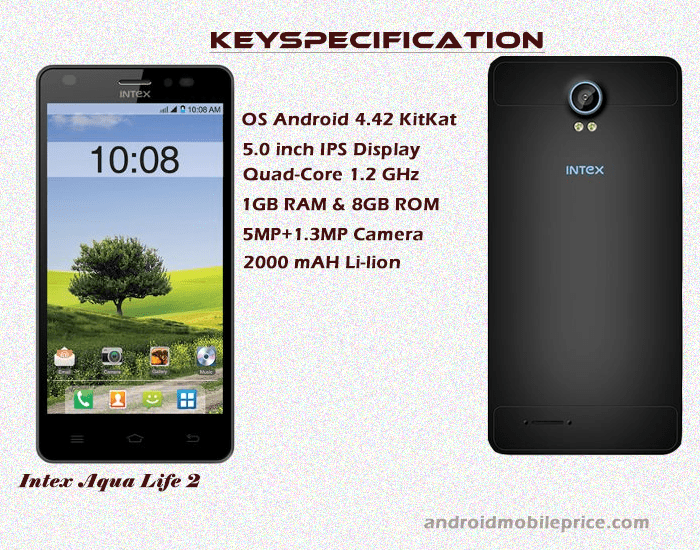 intex aqua life 2 specification & price in bangladesh