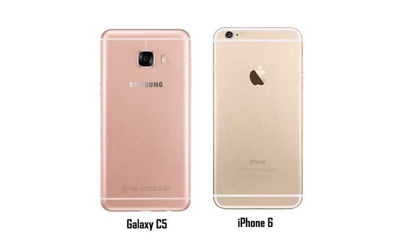 Samsung Galaxy C5 vs iPhoone 6 design