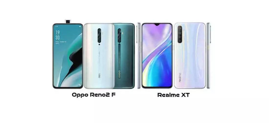 Oppo Reno2 F vs Realme XT