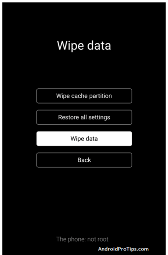 Vivo wipe data