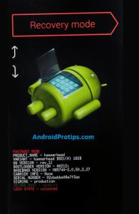 Samsung fastboot mode option