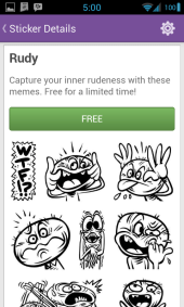 Viber Android Sticker Market 2 Rudy - Viber updated to bring support for Android Tablets, 1000 stickers, instant voice messages & more