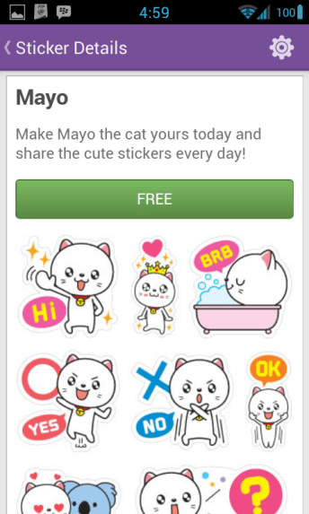 Viber Android Sticker Market 7 Mayo - Viber updated to bring support for Android Tablets, 1000 stickers, instant voice messages & more