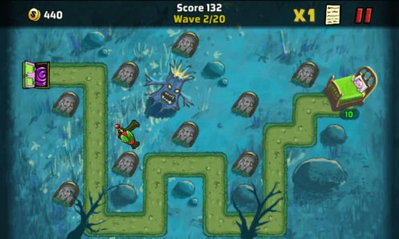 The Creeps Game Screen