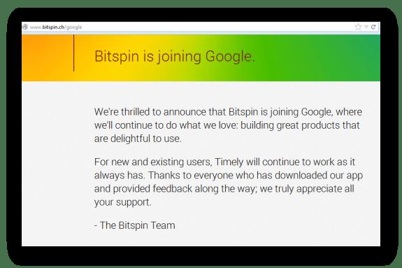 Bitspin announces Google Acquisition