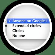 Google+ email option