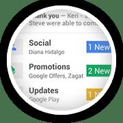 Google+ email social tab