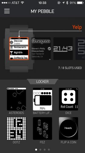 Pebble Appstore Apps