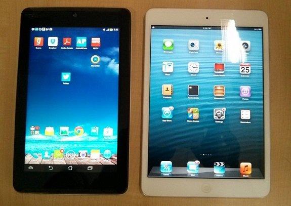 Asus Phonepad 7 with iPad mini