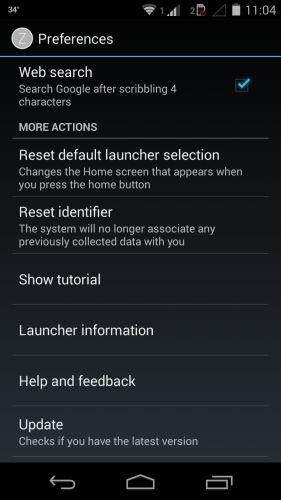 Nokia Z Launcher Preferences