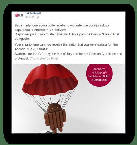 LG Android 4.4 Update G Pro Optimus G