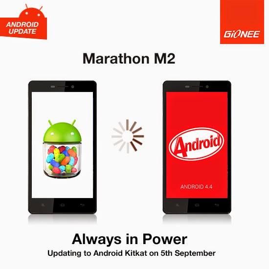 Gionee Marathon M2 Android KitKat Update