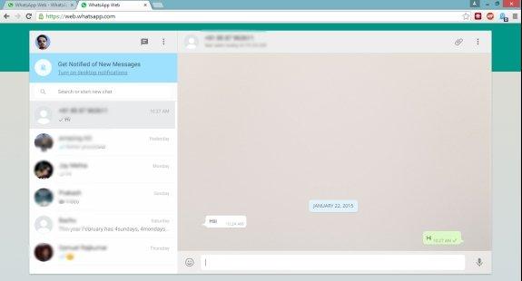 WhatsApp Web Google Chrome
