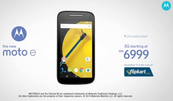 Moto E 3G 2nd Gen Flipkart India