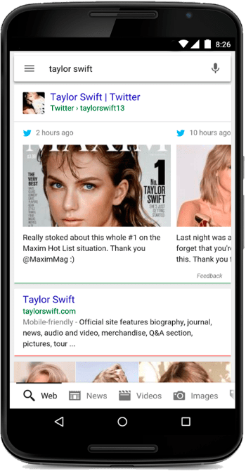 Twitter Google Search 2 - Twitter announces that Real-time Tweets will be displayed in the Google Search app and Mobile Web