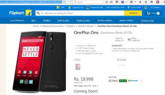 OnePlus-One-Flipkart-Discount